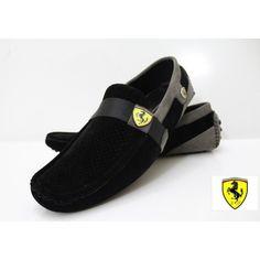 ce83fc60f51 Ferrari Black   Grey. Mens Fashion ShoesLoafer ...
