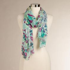 One of my favorite discoveries at WorldMarket.com: Mint Floral Scarf