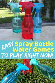 Grab the squirt bottles! It is time to play some easy squirt bottle games. The kids will be laughing and enjoying themselves in no time. (Part of more than 20 water games! Backyard Water Games, Outdoor Water Games, Water Games For Kids, Games For Teens, Water Party Games, Outside Games For Kids, Indoor Games, Indoor Activities, Outdoor Fun