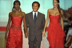 1999 Valentino Haute Couture Fall / Winter. Models Naomi Campbell and Gisele Bündchen with Valentino