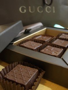 Chocolates from Gucci Cafe just in time for Christmas** Images Of Chocolate, Chocolate World, Chocolate Dreams, Chocolate Delight, Chocolate Heaven, Chocolate Shop, Chocolate Coffee, Chocolate Lovers, Chocolate Desserts