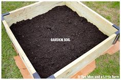 Raised beds for fruit trees and soil blend