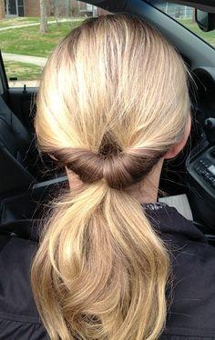 fancy pony tail 30 Days   30 Ways Hair Challenge   Inverted Pony Tail Styles