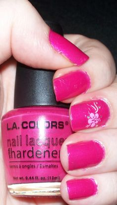 L.A. Colors Nail Polish Bright Pink 5749