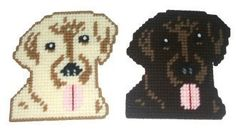 Black Labrador Coaster Set w/Bonus Plastic by RainbowPonyDesigns