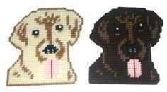 Black Labrador Coaster Set w/Bonus Plastic by RainbowPonyDesigns