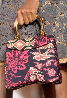 MIU MIU by Prada Handbag Purse Summer 2012 Red Patchwork Stampata