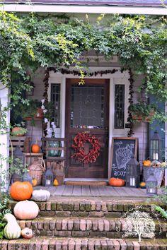autumn front porch 2013, porches, seasonal holiday decor, Our porch is our favorite room Autumn 2013 PumpkinIdeas