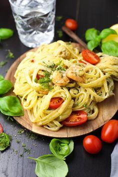 Pasta mit Scampis und Fenchel in Zitronensauce - Marisa's Table