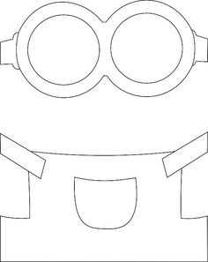minions template for bladder Minion Theme, Minion Birthday, Foam Crafts, Diy And Crafts, Crafts For Kids, Minion Stencil, Minion Template, Minion Card, Girl Minion