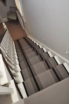 Transat Grey PNT 21 Carpet by Hartley and Tissier Wall Carpet, Carpet Stairs, Stair Runners, Entrance Hall, Hallway Decorating, Colour Palettes, Staircases, Hallways, Foyer