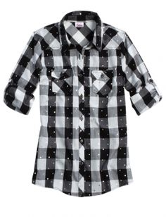 Embellished Plaid Shirt great gift to give for winter