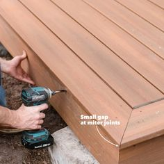 How to Build a Ground Level Deck - How to Build a Platform Deck Building A Floating Deck, Deck Building Plans, Building A Garage, Landscaping Around Deck, Outdoor Deck Decorating, Platform Deck, How To Level Ground, Ground Level Deck Plans, Patio Design