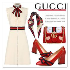 """Untitled #1071"" by samha ❤ liked on Polyvore featuring Gucci and Casadeco"