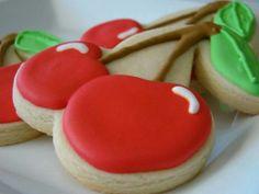 .Cherry decorated cookies #CherryCookies #Cookies