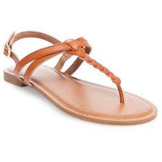 Women's Jasmine Slide Sandals - Cognac (Red) 10