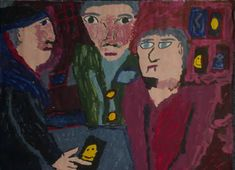 A group of three people that Benjamin Jahn painted a few years ago Primitives, Oil, Illustrations, Group, Portrait, Artist, People, Painting, Pintura