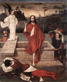 Resurrection //	c. 1455 // Dieric Bouts // Norton Simon Museum of Art, Pasadena // image: Web Gallery of Art // #Jesus #Christ #Cristo #Easter #Pascua
