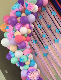 Butterfly Party Decorations, Butterfly Birthday Party, Balloon Decorations, Birthday Party Decorations, Baby Shower Decorations, 1st Birthday Party For Girls, Backdrops For Parties, Unicorn Party, Balloons