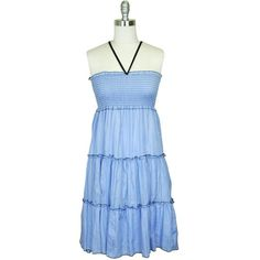 Baby Blue Halter Smocked Ruffle Maxi Summer Sun « Dress Adds iEveryday can I getit in every color