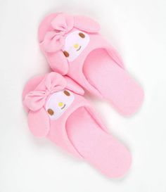 Shuffle sweetly in #MyMelody slippers for Womens sizes 7-8.