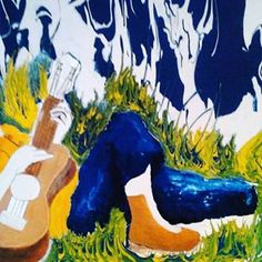 Giving this painting the final touch #painting #color #art #myart #fashion #designer #photographer #abstract #surrealismo #tattoo #badassart #outofthisworldart #iwanttheworldtoseemyart #surrealism #sensualart #landscape #subwayart #photographer #music #gitar #sound