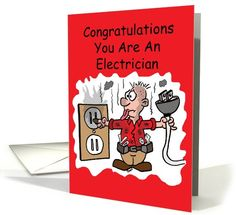 Electrician Graduate Congratulations card (1046103) by Boon