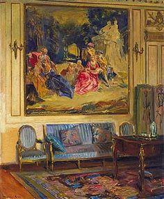 Boudoir, Chateau de Chaalis  1914  Walter Gay