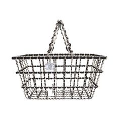 Chanel NEW Limited Edition Runway Grocery by Chanel Shopping Basket rt. $12,500 | From a collection of rare vintage top handle bags at https://www.1stdibs.com/fashion/handbags-purses-bags/top-handle-bags/