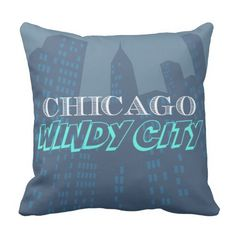Chicago Throw Pillow   #throwpillow #homedecor #homeaccessories #interiordecorating #chicago #windycity