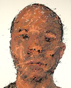 Craig Paul Nowak abstract drip portrait blend in stand out white Drip Painting, Abstract Portrait, Jackson Pollock, Pictures To Paint, Objects, Paintings, Canvas, Artist, Tela