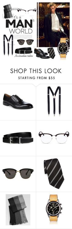 """I Love a Well Dressed Man"" by airsunshine on Polyvore featuring Allen Edmonds, Albert Thurston, Tod's, Yves Saint Laurent, Gentle Monster, Giorgio Armani, Calvin Klein, Bell & Ross, men's fashion and menswear"