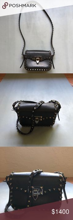 Valentino Rockstud Crossbody This bag has been my life for 2 years and it's still in amazing condition. Mostly worn to go out at night or even during the day really it's the easiest bag ever! Honestly, we all know Valentino speaks for itself! Let me know if you have any questions 🤗 Valentino Bags Crossbody Bags