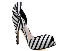 Black & White striped shoes / heels