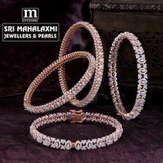 Bracelets for Women – Fine Sea Glass Jewelry Diamond Necklace Set, Diamond Bangle, Diamond Jewellery, Gold Bangles Design, Gold Jewellery Design, Antique Jewellery Designs, Bracelet Designs, Ground Floor, Hyderabad