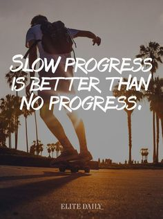 Slow progress is better than no progress. Yeah baby, this is totally  #WildlyAlive! #selflove #fitness #health #nutrition #weight #loss LEARN MORE →  www.WildlyAliveWeightLoss.com