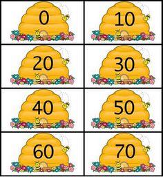 The Moffatt Girls: Counting to 100 Honey Bee Printables Preschool Themes, Preschool Math, Kindergarten Math, Math Activities, Teaching Math, Teaching Tools, Teaching Ideas, Teacher Freebies, Classroom Freebies