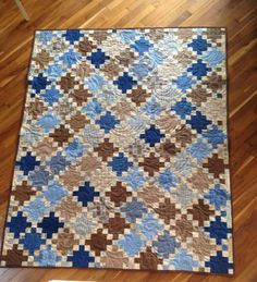Scraps of Life: Quilting/Sewing/Crafting Quilting Designs, Quilting Ideas, Nine Patch Quilt, Baby Boy Quilts, Traditional Quilts, Scrappy Quilts, Blue Cream, Quilt Patterns, Sewing Crafts