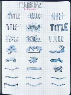 Mild liners ideas