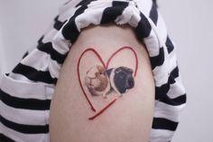 Guinea pigs tattoo Pig Tattoos, Rabbit Tattoos, Wrist Tattoos, Animal Tattoos, Love Tattoos, Body Art Tattoos, Tattoos For Women, Disney Tattoos Unique, Unique Tattoos
