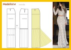 Long morticia skirt pattern - womens sewing pattern drafting