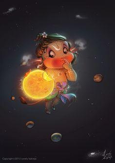 Wonderful Digital Art Illustration by Indian Artist Lovely Kukreja Shiva Art, Krishna Art, Hindu Art, Krishna Drawing, Baby Krishna, Hanuman Images, Lord Krishna Images, Bal Hanuman, Lord Hanuman Wallpapers