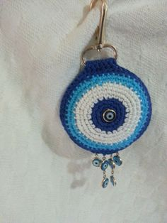 Fofinho. Bead Crochet, Crochet Motif, Crochet Earrings, Doily Dream Catchers, Evil Eye, Doilies, Projects To Try, Paper Crafts, Embroidery