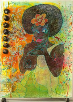 Chris Ofili-Blossom. Love this one - it's on the wall of my History of Art room at college