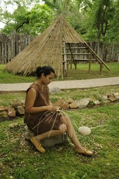 Tour the Ancient Village, located on the grounds of the Cherokee Heritage Center in northeast Oklahoma.  Watch demonstrations of ancient cultural practices and learn more about early Native American life.