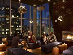 Hearth Cabinet Ventless Fireplaces - contemporary - fireplaces - new york - Hearth Cabinet Soho Hotel, Jimmy At The James, Lounges In Nyc, Grand Parasol, Rooftop Bars Nyc, Rooftop Restaurant, Rooftop Pool, Freestanding Fireplace, Table Haute