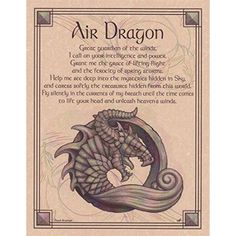 Water Dragon Poster Wicca Pagan Witch Witchcraft Goth Punk Book of Shadows Water Dragon, Fire Dragon, Dragon Fight, Dragon Meaning, Witch Spell Book, Elemental Magic, Elemental Powers, Pagan Witch, Witches