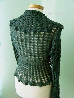 INSTANT DOWNLOAD HILDEGARD Crochet shrug by BernioliesDesigns