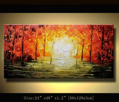 Original Abstract Painting, Modern Textured Painting,  Palette Knife, Home Decor, Painting Oil on Canvas  by Chen 0234. $270.00, via Etsy.