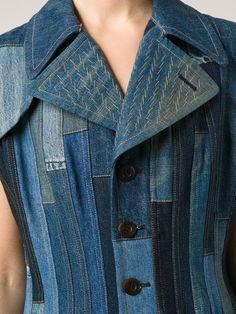 Junya Watanabe Comme Des Garçons Patchwork Flared Denim Dress – Forty Five Ten –… Patchwork Denim, Patchwork Dress, Diy Vetement, Mode Jeans, Denim Ideas, Recycled Denim, Denim Coat, Apparel Design, Mode Inspiration